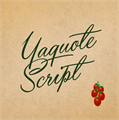 Illustration of font Yaquote Script Personal Use