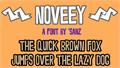Illustration of font Noveey