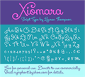 Illustration of font Xiomara