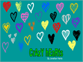 Illustration of font Crazy Hearts