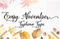 Illustration of font Easy November