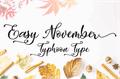 Illustration of font Easy November