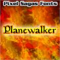 Illustration of font Planewalker