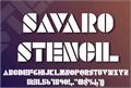 Illustration of font SAVARO STENCIL
