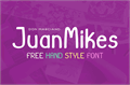 Illustration of font JuanMikes