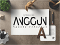 Illustration of font Anggun Sans