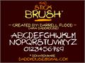 Illustration of font Mad Stick Brush