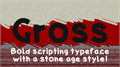 Illustration of font Gross