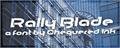 Illustration of font Rally Blade