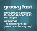 Illustration of font Groovy Fast