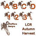 Illustration of font LCR Autumn Harvest