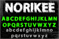 Illustration of font NORIKEE DEMO