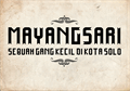 Illustration of font Mayangsari