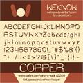 Illustration of font COPPER