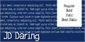 Illustration of font JD Daring