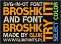 Illustration of font BroshK