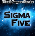 Illustration of font Sigma Five