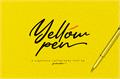 Illustration of font Yellow Pen