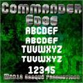 Illustration of font Commander Edge