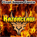 Illustration of font Razorclaw
