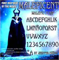 Illustration of font Malefic Font