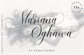 Illustration of font Mariana Oghawa
