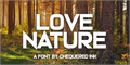 Illustration of font Love Nature