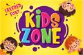 Illustration of font Kids Zone