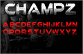 Illustration of font Champz DEMO