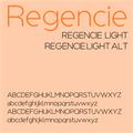 Illustration of font Regencie