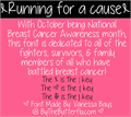 Illustration of font Running for a cause