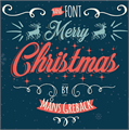 Illustration of font Merry Christmas