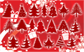Illustration of font Christmas Trees
