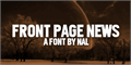 Illustration of font Front Page News