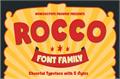 Illustration of font Rocco