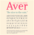 Illustration of font Aver