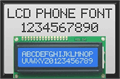 Illustration of font lcd phone
