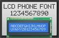 Illustration of font lcd phone