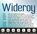 Illustration of font Wideroy