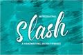 Illustration of font Slash