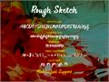 Illustration of font Rough Sketch
