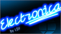 Illustration of font Electronica