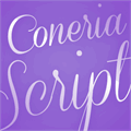 Illustration of font Coneria Script Demo