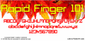 Illustration of font Rapid Finger 101