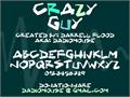 Illustration of font Crazy Guy