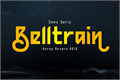 Illustration of font Belltrain Regular