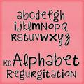 Illustration of font KG Alphabet Regurgitation