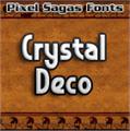 Illustration of font Crystal Deco