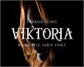 Illustration of font Viktoria Serif