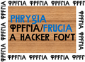 Illustration of font Phrygia